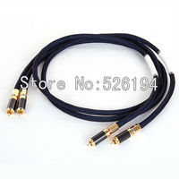 Free shipping Western Electric R Copper RCA audio cable signal line/ interconnect cable with Carbon fiber RCA plug