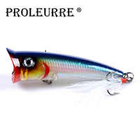 NEW Popper lure 7.8cm 10.5g fishing lures wobblers trolling top water bass bait isca artificial Fishing Baits Feather Hooks Lure