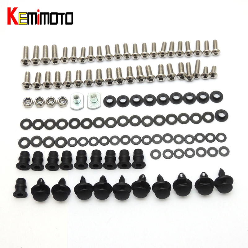 KEMiMOTO Ninja 250R Motorcycle Complete Fairing Bolts  For KAWASAKI Ninja 250R 2008 2009 2010 2011 2012 Parts One Set New