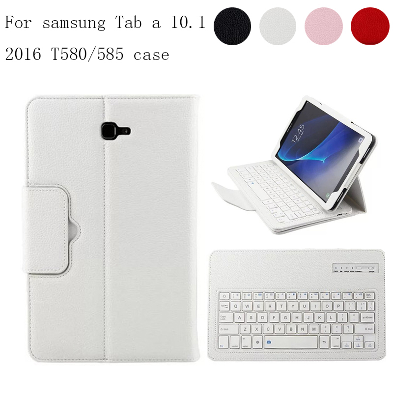 Detachable Wireless Bluetooth Keyboard Case Cover For Samsung Galaxy Tab A 10.1 2016 T580 T585 T580N T585N PU Leather Stand Case lepin 15008 2462pcs city street green grocer creators model buildings kits blocks bricks toys for chilren gifts legoinglys 10185