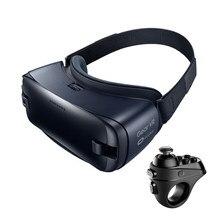Óculos vr 3d gear 4.0 caixa 3d, para samsung galaxy s9 s9plus s8 s8 + note7 note 5 s7 smartphones etc com controle de bluetooth