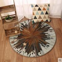 Nordic fashion round carpet coffee table room bedroom living room Rug garden kids mat computer chair cushion