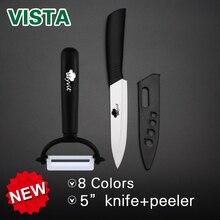 Cuchillo de cerámica de 5 pulgadas cuchillo cocinero 8 Mango de color de Alta calidad cuchillo de Pelado De Frutas inicio cocina comedor bar de cerámica blanca cuchillo