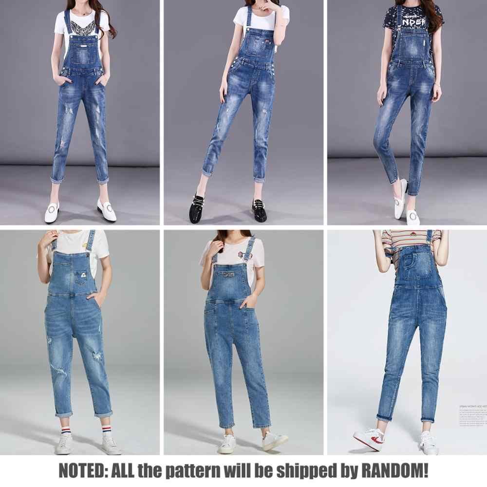 Женский комбинезон из джинсовой ткани 2019, облегающие брюки средней длины в стиле ретро на лямках, модные потертые джинсовые Обтягивающие Комбинезоны с случайным узором