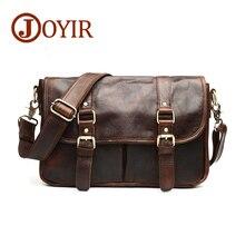 JOYIR New Causal cowhide leather men bags small crossbody men messenger bags genuine leather camera bags B542