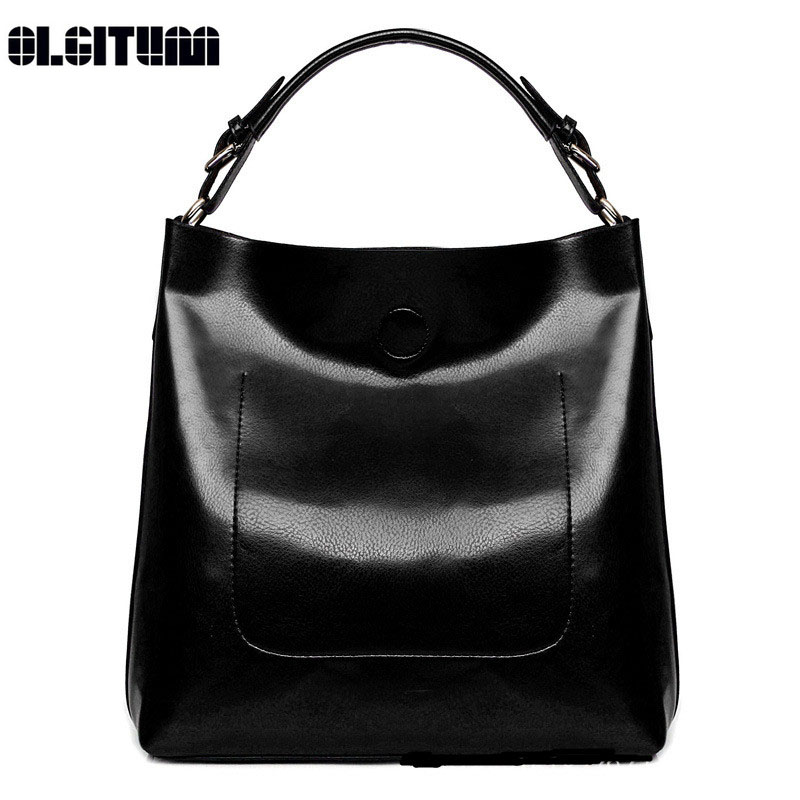 OLGITUM 2017 Women Handbags High Quality Ladies Hand Bags Women PU Leather Casual Shoulder Bag Bright Surface Women Bag HB177