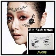 Masquerade Golden Flash Tattoo Paste Face Temporary Flash Tattoos Jewelry Arab India's Large Temporary Tattoos