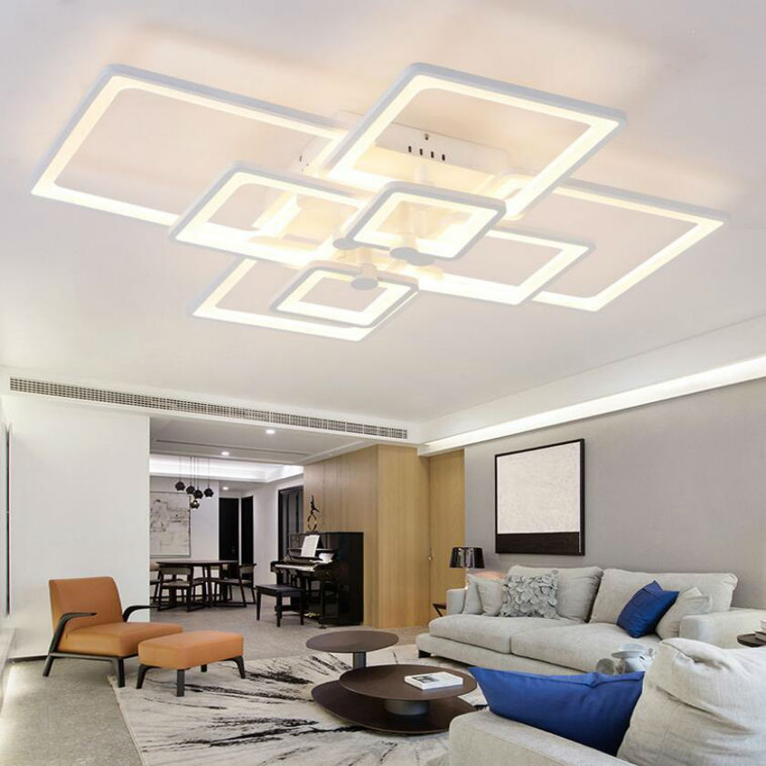 Modern led square Ceiling Light Remote Controlling acrylic Dimming Luminarias Para Sala Bedroom Ceiling Lighting 90 260V