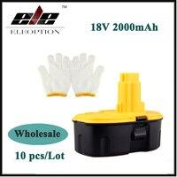 10x Wholesale 18V 2000mAh Ni CD Replacement Power Tool Battery For Dewalt DW995 DW9096 DC527 DC390