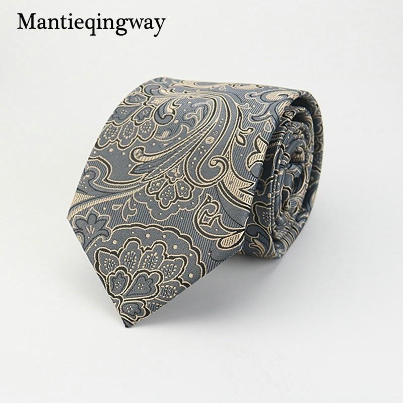 Mantieqingway Brand Ties Hombres Poliéster Corbatas Floral Gravata - Accesorios para la ropa - foto 4