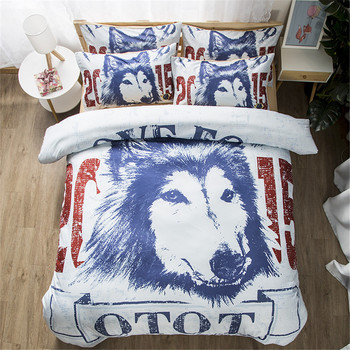 3D Cute Dog Bedding Set High-definition Print Quilt Cover set husky animal bedclothes cartoon single double king duvet cover set