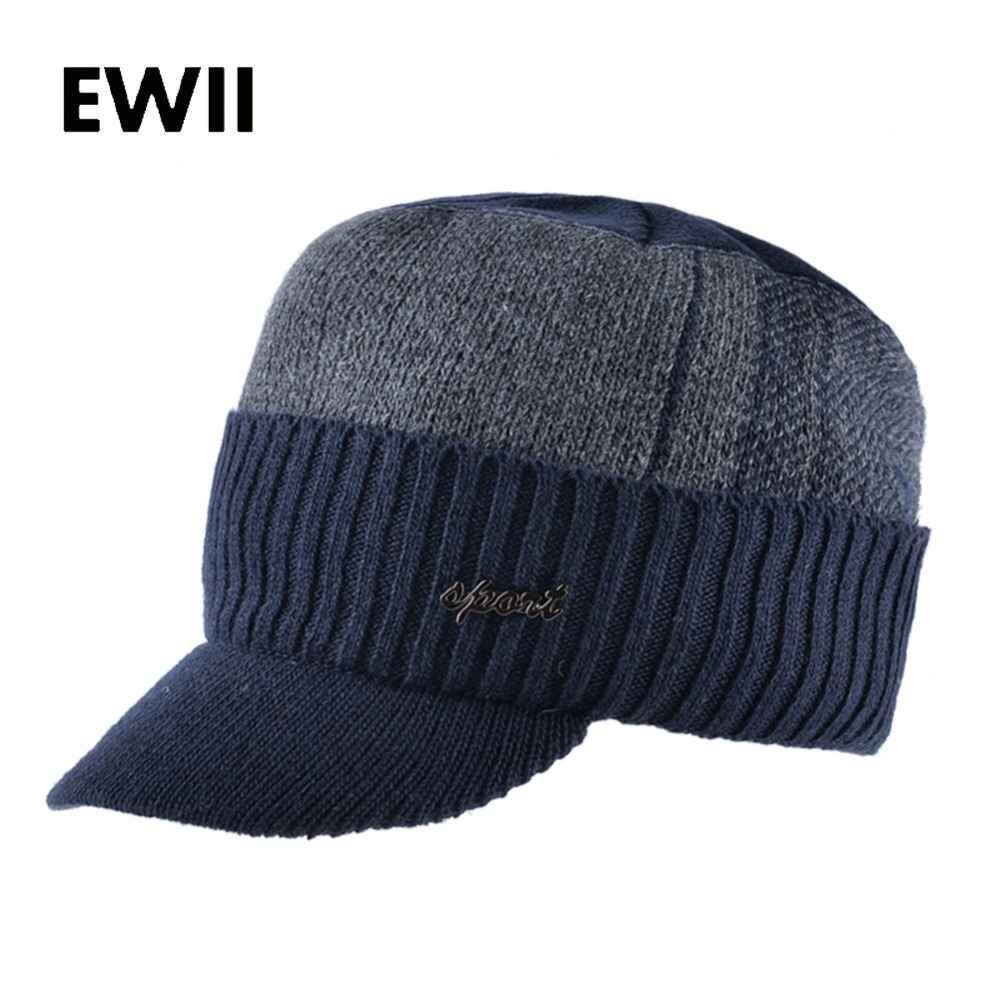 2017 Winter baseball caps men flat hip hop cap women knitted trucker hats skullies for men knit snapback hat gorro feminino mh rex rabbit fur winter hats female for women vintage flower top casual solid knitted caps skullies beanies w 20