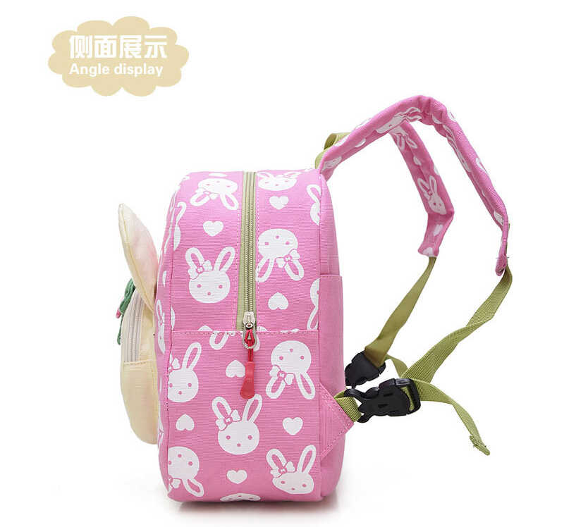 Прекрасные милые дети школьные ранцы кролика и медведя куклы Аппликация Холст Рюкзак Мини для маленьких школьная сумка, для детей младшего возраста рюкзаки