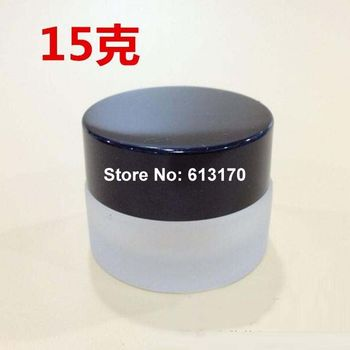 20pcs 15ml 15g  Glass empty cream Jar with black lid Body with Frost cosmetic packing Container Eye Cream Jars