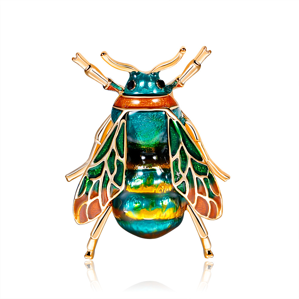 Fashion Jewelry Accessories Enamel Insects Cicada Brooches For Women And Men Enamel Animal Brooch Pins