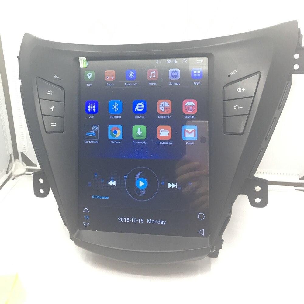 ZOYOSKII Android 8.1 10.4 inch vetical screen car gps multimedia radio bluetooth navigation player for Hyundai ELANTRA 2012 2015