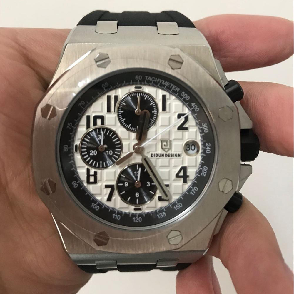 mens watches top brand luxury sports watch Miyota Chronograph Male Quartz Watch sapphire military wristwatch 50M waterproof