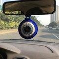 Crochê Azul Grego Olho Do Mal Pingente Charme Carro Decoração de Casa Amuleto Turco Nazar Judaica Kabbalah Presente Artesanal de Fios De Acrílico