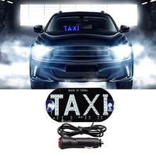 Светодиодный зеленый дисплей для такси MeeToo, 1 шт., световой индикатор 12 В, светодиодный индикатор для ветрового стекла автомобиля, кабины, зн...