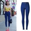 Woman Pencil Pants Denim Jeans Slim Mujer Plus Size Stretch Personality Jeans Female High Waist Skinny