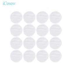 iCosow 100pcs Make Up Cosmetic Cotton Pad Wipe Pads Nail Art Cleaning Pads Soft Daily Supplies Facial Cotton Makeup Remover Tool icosow 300 pcs make up cotton pads wipe pads nail art polish cleaning pads facial cosmetic cotton makeup remover clean tool