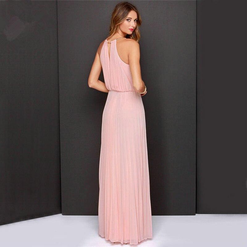 09e89456f ... verano Vintage Vestido largo de gasa Venta caliente sin mangas verde  vestido. RM15732430845679443.
