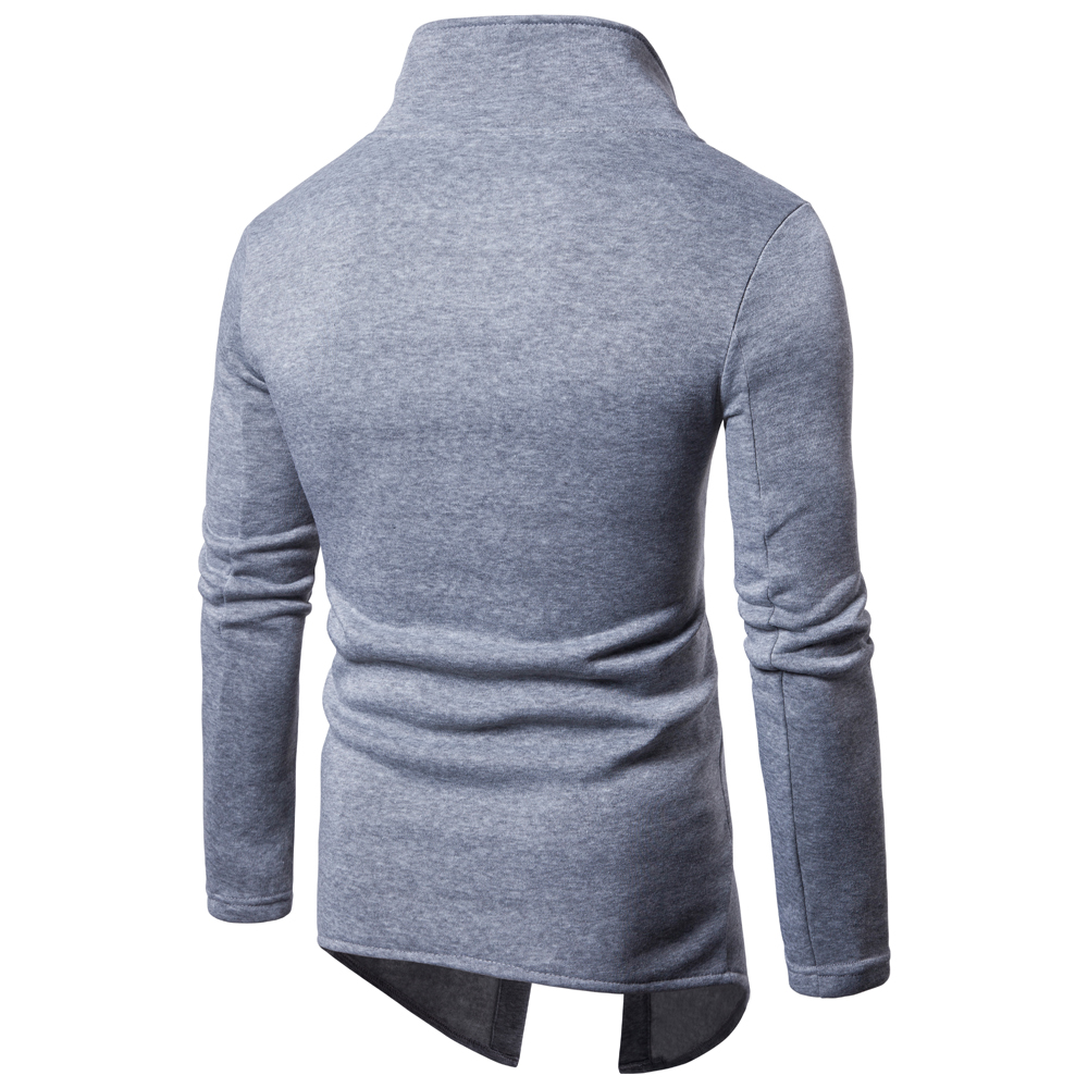 Mens Casual Sweatshirt 2018 New Mens Fashion Collar Cardigan Casual Hooded Sweater Fashion Boutique Apparel Europe Size