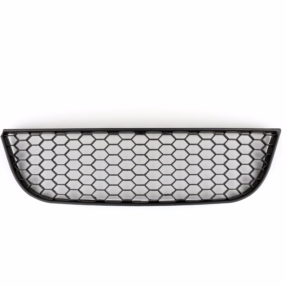 Areyourshop Car Front Center Lower Bumper Grille For VW Polo 9N3 GTI Black Honeycomb Style ABS Plastic Car Styling Cover Parts grille