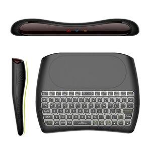 Image 4 - L8STAR D8 S 2.4G RGB لوحة مفاتيح لاسلكية مع لوحة لمس الخلفية يطير ماوس هوائي USB التحكم عن بعد لأجهزة الكمبيوتر المحمول كمبيوتر صغير تي في بوكس أندرويد