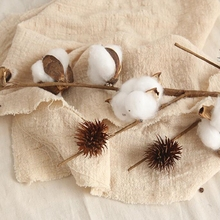 Bunch of Naturally Dried Cotton Branch Farmhouse Style Artificial Cotton Bouquets Natural Dried Wedding Cotton Stems Bouque naturally dried cotton stems farmhouse artificial flower filler floral decor artificial flowers garden decoration fake