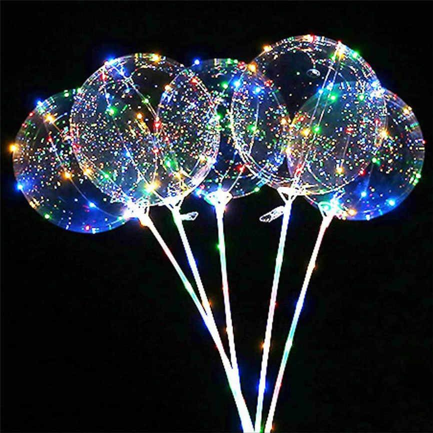 3 шт световой светодиодный шар прозрачный Круглый Декоративные пузырьки вечерние свадебные светодиодный Bubble шар Рождественский подарок + 6 xSticks Ноя #3