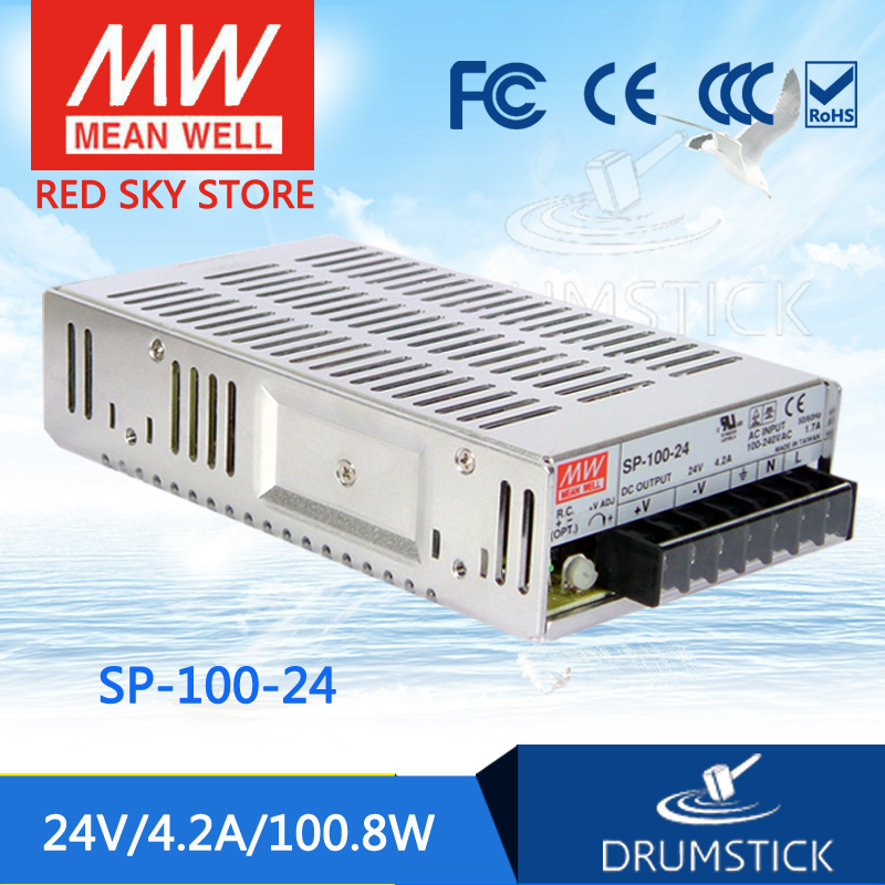 (12.12)MEAN WELL SP-100-24 24V 4.2A meanwell SP-100 24V 100.8W Single Output with PFC Function Power Supply 100% original mean well epp 100 24 24v 3 2a meanwell epp 100 24v 76 8w single output with pfc function [real1]