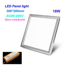 SXZM LED panel light square lampada  300×300 18W high bright led indoor  ceiling lamp SMD5630 white /warm white with led driver