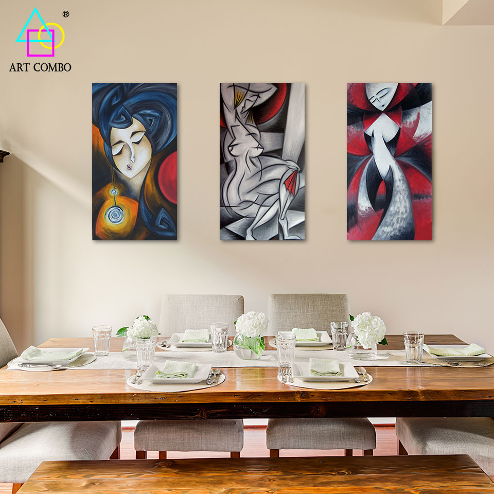 Top Abstract Women Artwork Canvas Painting Modern Home Decor Wall Hanging  Picture Spray Rectangle Painting One Piece With Cheap Artwork For Home.