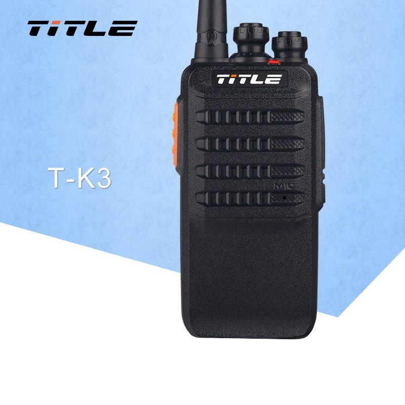 TITLE T-K3 Walkie Talkie 6W High Power UHF400-470MHz Handheld Portable Transceiver Two Way Radio