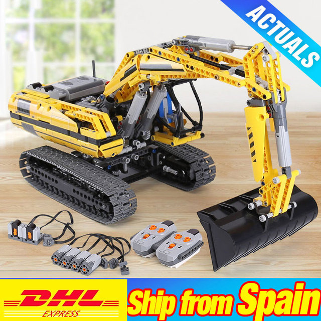DHL 20007 TECHNIC Motorized Excavator 8043 Building Blocks Bricks DIY 20008 L350F Wheel Loader 42030 Children Toys