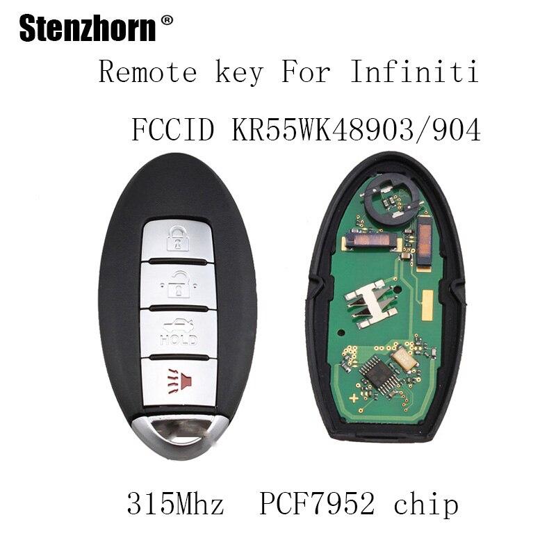Stenzhorn 3pcs 315Mhz Remote Key Keyless Fob For INFINITI 2011 12 G25 2007 08 G35 2008