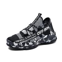 Spring Autumn 2018 New Breathable Mesh Casual Shoes Men Slip On Camouflage Footwear Walking Unisex Couples Shoes Men