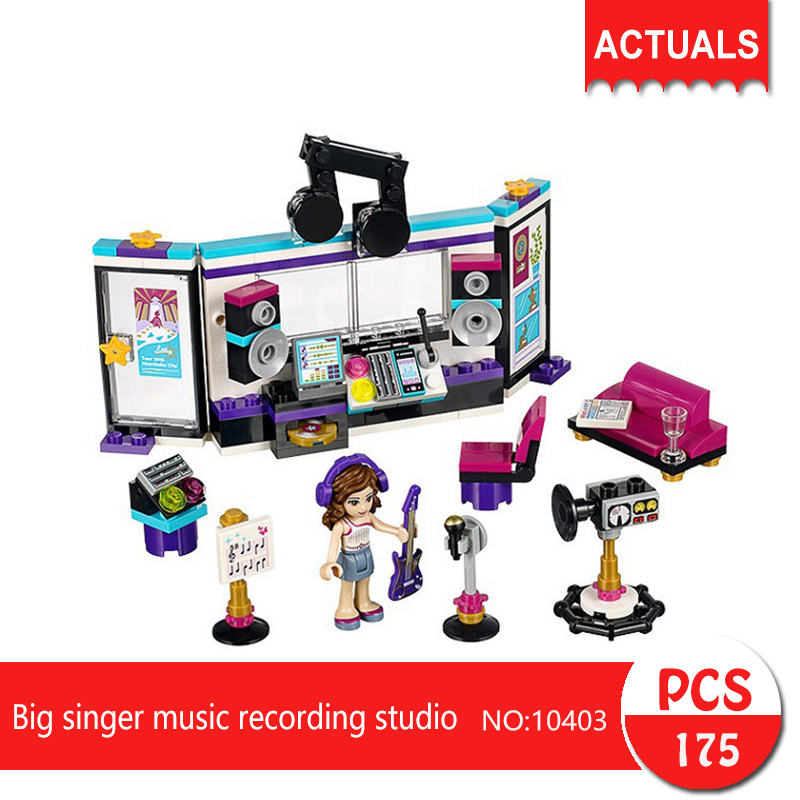 bela 10403 175Pcs Friends series Big singer music recording studio Building Blocks Bricks font b Toys