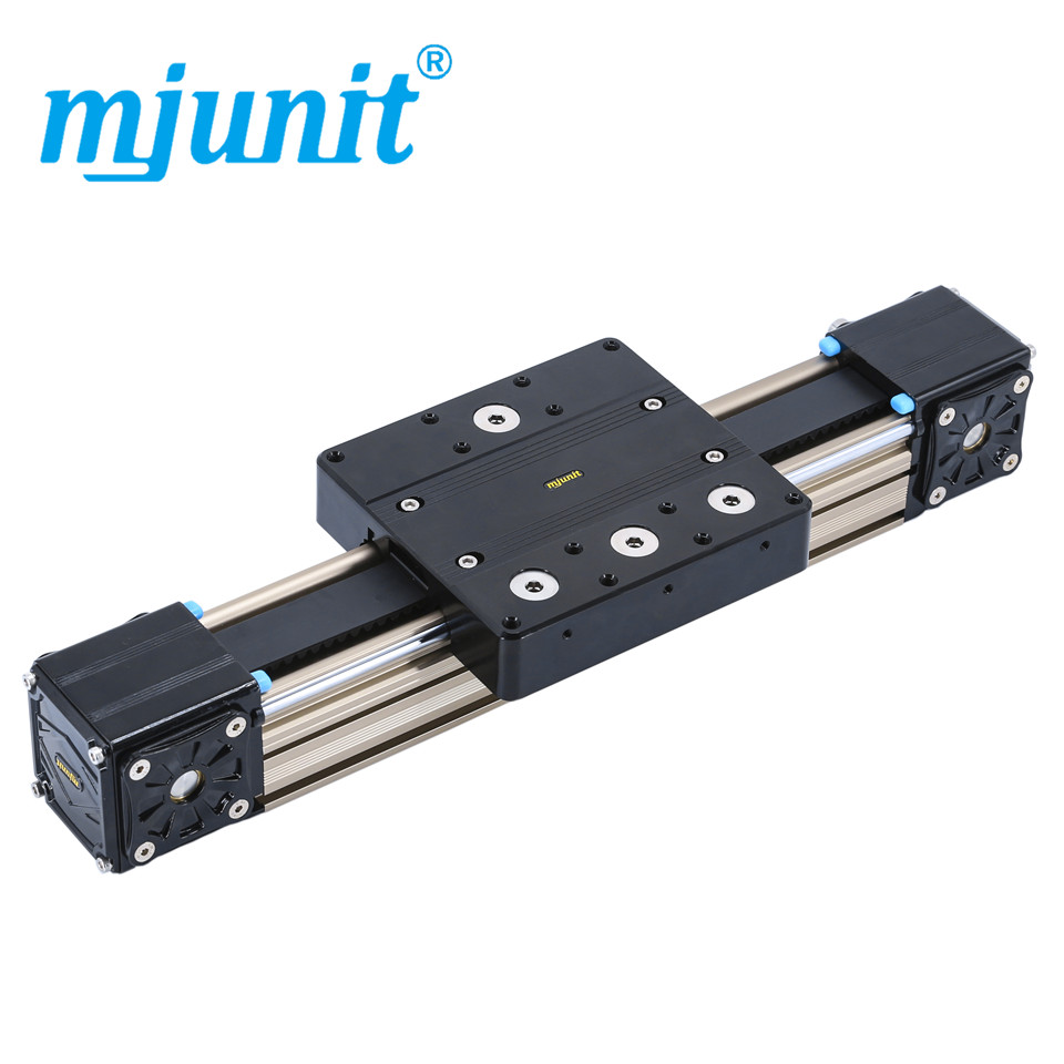 mjunit MJ80 Linear Rail Shaft Guide Support CNC Aluminium Axis with 500mm stroke length mjunit xy postioning axis linear motion shaft support series slide cnc aluminum rail high quality
