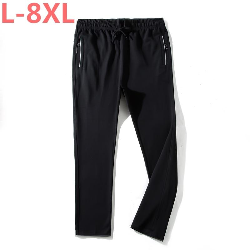 Grande taille 8XL 7XL 6XL 5X Nouveaux Hommes Longue Sueurs Pantalon décontracté Pantalon Taille Élastique D'entraînement Fitness pantalons de Survêtement Pantalons de Survêtement