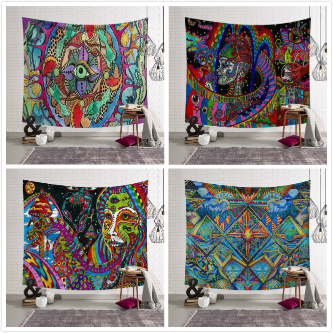 Home Colourful Face Oil Painting Mandala Tapestry Gypsy Hippie Wall Hanging Dorm Cover Bedspread Yoga Mat Moroccan DecorHome Colourful Face Oil Painting Mandala Tapestry Gypsy Hippie Wall Hanging Dorm Cover Bedspread Yoga Mat Moroccan Decor