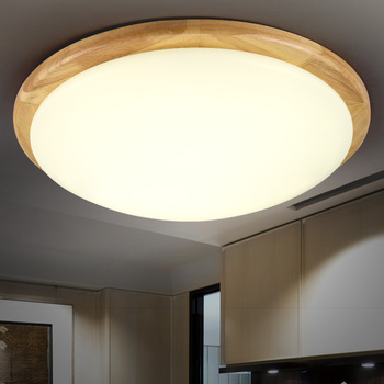 Solid Wooden round ceiling lights bedroom lamp wood logs Nordic Korean led style wooden ceiling lights balcony ceiling lamps ZA