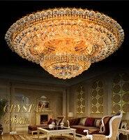 Роскошный K9 Кристалл Изменение цвета дистанционный пульт LED поглощают свет купола Гостиная вилла светодиодные потолочный светильник 80/100 с