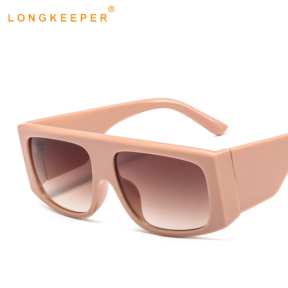 2019 New Big Frame Gradient Shades Oversized Sunglasses Women Vintage Square Sun Glasses Classic Eyewear Gafas de sol UV400