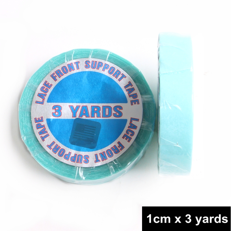 Harmony 2pcs 1cm X 3 Yards Blue Lace Frontal Support Double-sided Super Adhesive Tape Rolls For Lace Wigs Pu Skin Weft