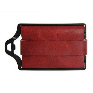 Image 2 - ZEEKER portefeuille multifonctionnel en cuir pour hommes, nouveau portefeuille multifonctionnel en métal, porte cartes de crédit