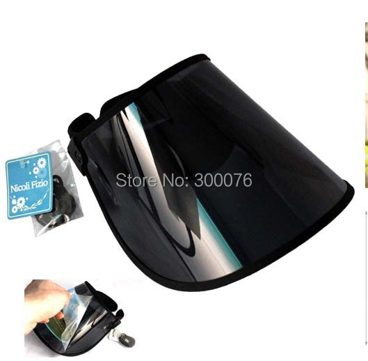d52f0fa22d3 New fashion summer plastic Sun Visor hat UV Protection Golf Sport CAP  adjustable BLACK