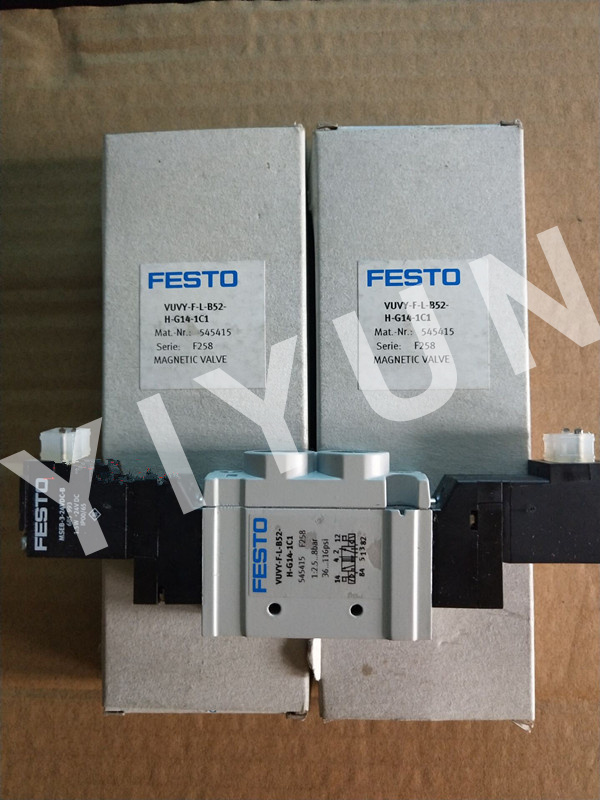 VUVY-F-L-M52-AH-G14-1C1 545421 VUVY-F-L-B52-H-G14-1C1 545415 VUVY-F-LP-B52-G14-1C1 15151224 FESTO Solenoid valve lp воздухопроницаемый серебрый l