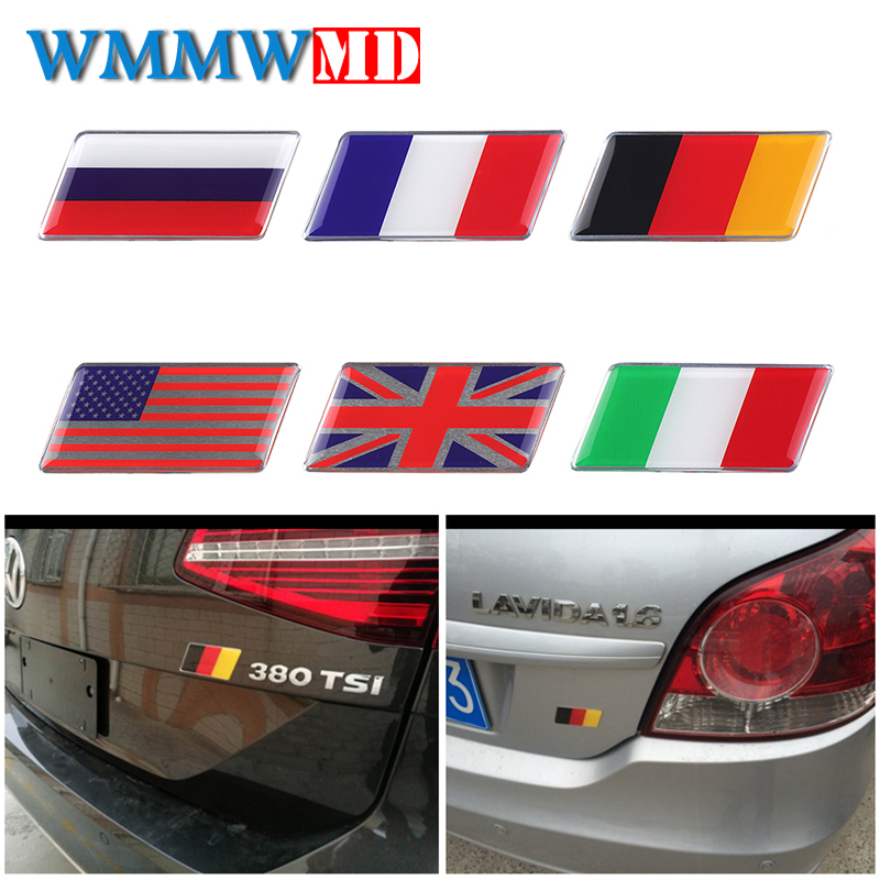 Car Styling 1x 3D Epoxy Car Styling Russian Flag Fit For VW BMW Audi Toyota Ford Nissan Shield Flag Car Sticker National Emblem